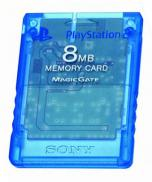 SONY PS2 Memory Card 8Mb bleue transparente
