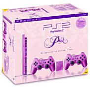 PS2 Slim Pink (PStwo Rose) - Pack 2 manettes + carte mémoire 8 Mo