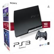 PS3 Slim 160 Go (Charcoal Black)