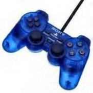 SONY PS1 Manette bleue transparente