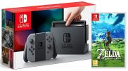 Nintendo Switch avec paire de Joy-Con - Pack The Legend of Zelda: Breath of the Wild (gris)